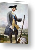 Royalty Greeting Cards - Charles Iii (1716-1788) Greeting Card by Granger