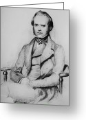 Theory Of Evolution Greeting Cards - Charles Robert Darwin, English Greeting Card by Omikron