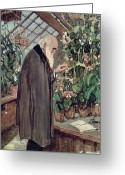 Great Painting Greeting Cards - Charles Robert Darwin Greeting Card by John Collier