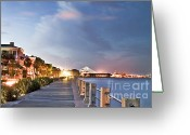Carolina Greeting Cards - Charleston Battery Photography Greeting Card by Dustin K Ryan