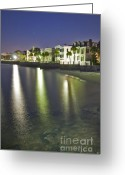 Historic Lighthouse Greeting Cards - Charleston Battery Row At Dawn Greeting Card by Dustin K Ryan