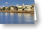 Historic Greeting Cards - Charleston Battery Row South Carolina  Greeting Card by Dustin K Ryan