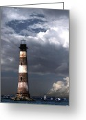 Lighthouse Home Decor Greeting Cards - Charleston Lights Greeting Card by Skip Willits