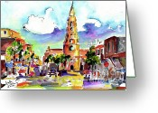 Carolina Painting Greeting Cards - Charleston North Market Street Greeting Card by Ginette Fine Art LLC Ginette Callaway