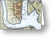 1732 Greeting Cards - Charleston, Sc, 1732 Greeting Card by Granger