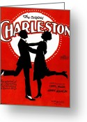 Roaring Twenties Greeting Cards - Charleston Songsheet Cover Greeting Card by Granger