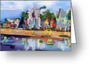 Ginette Fine Art Llc Ginette Callaway Greeting Cards - Charleston South Carolina The Battery Greeting Card by Ginette Fine Art LLC Ginette Callaway