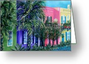 Bess Greeting Cards - Charlestons Own Rainbow Greeting Card by Pamela Poole