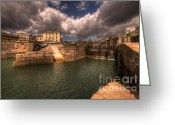 Charlestown Greeting Cards - Charlestown Harbour Greeting Card by Rob Hawkins