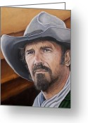 Open Range Greeting Cards - Charley Waite 2 Greeting Card by Kenneth Kelsoe