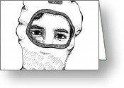 Addison Greeting Cards - Charlie - The Ninja Greeting Card by Karl Addison