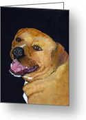One Animal Painting Greeting Cards - Charlie Greeting Card by Mike Lester
