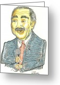 Green Forehead Greeting Cards - Charlie Rangel Greeting Card by Al Elumn