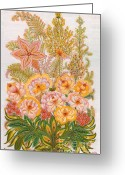 Floral Drawings Greeting Cards - Charming Dreams of my Childhood Greeting Card by Olena Kulyk