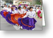 Charro Greeting Cards - Charro Days Parade Greeting Card by Joshua Claudio