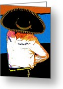 Charro Greeting Cards - Charro Greeting Card by Kimberley Joy Ferren