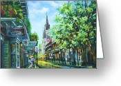 Cathedral Greeting Cards - Chartres Afternoon Greeting Card by Dianne Parks