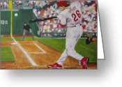 Utley Greeting Cards - Chase Greeting Card by Al Fonollosa