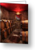 Wine Cellar Greeting Cards - Chateau Pindefleurs-France Greeting Card by John Galbo