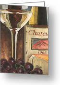 Cheese Greeting Cards - Chateux 1965 Greeting Card by Debbie DeWitt