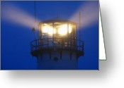 New England Lighthouse Greeting Cards - Chatham Light Greeting Card by Juergen Roth