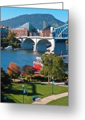 Point Park Greeting Cards - Chattanooga Landmarks Greeting Card by Tom and Pat Cory