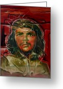 Retratos Greeting Cards - Che Gevara Greeting Card by Naza