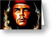 Fabulous Greeting Cards - Che Guevara Greeting Card by Pamela Johnson