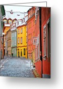 Christine Greeting Cards - Cheb an old-world-charm Czech Republic town Greeting Card by Christine Till