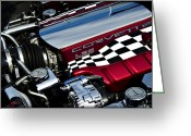Checkered Greeting Cards - Checkered Flag Greeting Card by Ricky Barnard