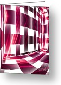 Illusion Illusions Greeting Cards - Checkered Greeting Card by Kristin Kreet