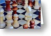 Game Piece Greeting Cards - Checkmate Greeting Card by Russ Harris