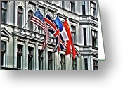 Ost Photo Greeting Cards - Checkpoint Charlie Greeting Card by Juergen Weiss