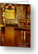 Food And Beverage Art Greeting Cards - Cheers Greeting Card by Lois Bryan