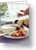 Figs Greeting Cards - Cheese And Ham Meal Greeting Card by David Munns