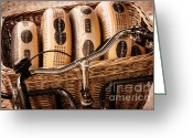 Brakes Greeting Cards - Cheese on Wheels Greeting Card by Joan Carroll