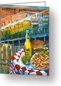 Buffett Greeting Cards - Cheeseburger in Paradise Greeting Card by Dianne Parks
