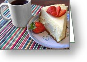 Lynnette Johns Greeting Cards - Cheesecake Greeting Card by Lynnette Johns