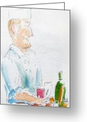 South Seas Greeting Cards - Chef In Action Greeting Card by Pat Katz
