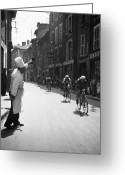 Tour De France Greeting Cards - Chef Toasts Tour Greeting Card by Bert Hardy