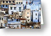 Blue House Greeting Cards - Chefchaouen 1 Greeting Card by Kenton Smith