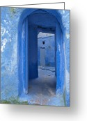 Blue House Greeting Cards - Chefchaouen 2 Greeting Card by Kenton Smith