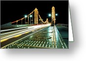 Traffic Greeting Cards - Chelsea Bridge Greeting Card by Vulture Labs