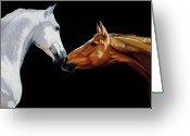 Equines Painting Greeting Cards - Chemistry Greeting Card by Liz Mitten Ryan
