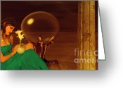 Goddess Posters Greeting Cards - Cherished Greeting Card by Ester  Rogers
