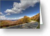 Skyway Greeting Cards - Cherohala Skyway Greeting Card by Debra and Dave Vanderlaan