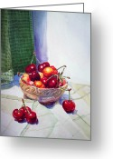 Cherries Greeting Cards - Cherries Greeting Card by Irina Sztukowski