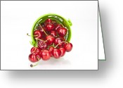 Cherries Greeting Cards - Cherries Greeting Card by Joana Kruse