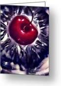 Janeen Wassink Searles Greeting Cards - Cherry at the Bottom of an Empty Sundae Glass Greeting Card by Janeen Wassink Searles