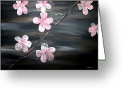 Most Greeting Cards - Cherry Blossom  Greeting Card by Mark Moore
